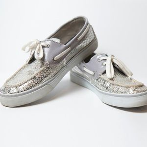 Sperry Top-Sider Silver Grey sparkle